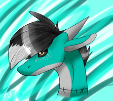 Shark Adopt Headshot .:Original:. by WinterTheDragoness