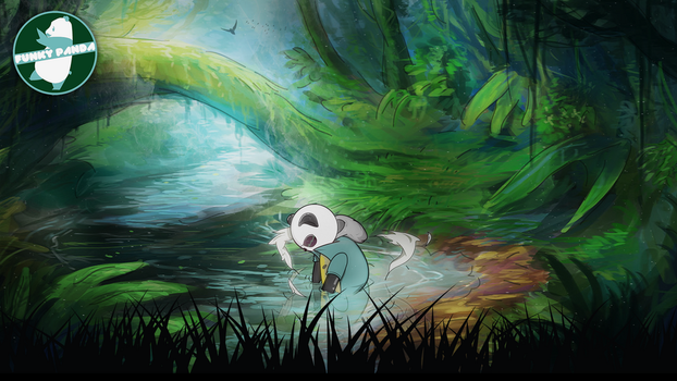 Funky Panda April Wallpaper by FunkyyPanda
