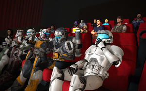 Watching a movie at the cinema! by benoski