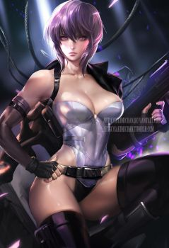 Ghost in Shell .nsfw optional. by sakimichan