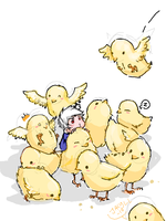 Gilbert with his Gilbirds by Jacyll