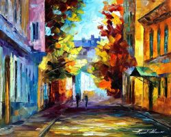 October by Leonid Afremov by Leonidafremov