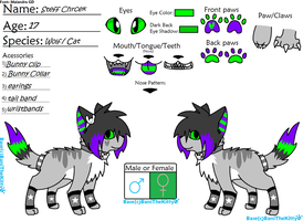 steff's new reff *her tail is all black* by s-t-e-f-f