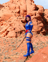 Valley of Fire Psylocke Photoshoot 1 by AsianPsylocke