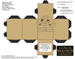 SW8: Jabba the Hutt and Salacious Crumb Cubees by TheFlyingDachshund