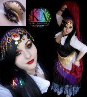 Gypsy Halloween Makeup with Tutorial by KatieAlves