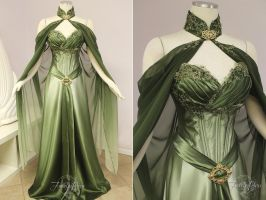 Elven Bridal Gown by Firefly-Path