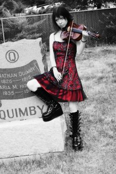 Viola playing and Cemeteries by DawnieLeeLee