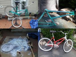 Painting Beach Bike Process by SirGryphon