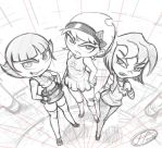 3 Bad Girls sketch by 14-bis