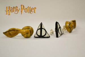 Harry Potter Earrings by Smikimimi