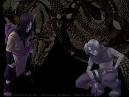 Orochimaru and Kabuto by mrurl42