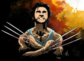 Wolverine - Jackman by LRitchieART