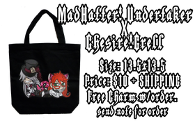CHIBI UNDERTAKER_GRELL TOTE by wanabiEPICdesigns
