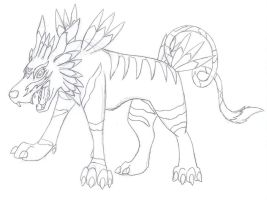 Garurumon - sketch by whitewolf1996