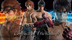 Conflict or Friendship? Hwoarang and Jin Kazama by Trix92