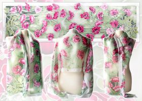 Silk scarf Poppies - For sale by MinkuLul