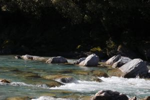 NZ Water rapids rocks by Chunga-Stock