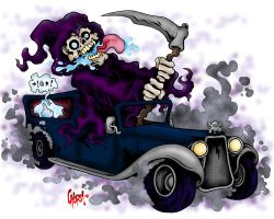 The Reaper Rides Out by MonsterInk