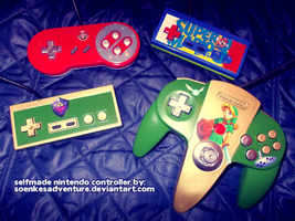 My first four selfmade Nintendo Controller by SoenkesAdventure