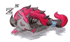 Commission: Sleeping Zoroark by Deus-Suetonius
