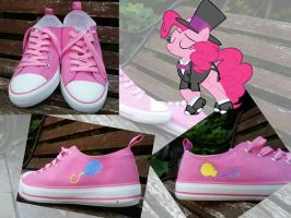 Custom Pinkie Pie canvas shoes! by soIIux-captor