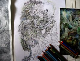Milad's tattoo design WIPs by Tattoo-Design