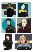 Trek Characters by stourangeau