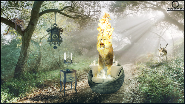 King of the Jungle Speed Art Photoshop by al9fr