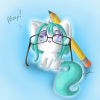 Studious Ghosty by SpectralPony