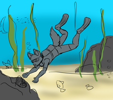 Diving sketch by LeoOfTheDeaD