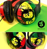 Bob Marley Headphones by Bobsmade