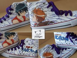 Zapatillas Escaflowne / Escaflowne custom kicks by Pandagorri