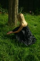 Girl in black dress stock 2 by A68Stock