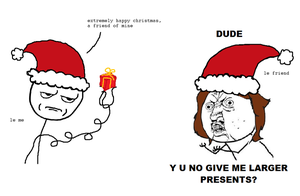 Rage comic, The Christmas card by Brassia