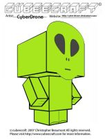 Cubeecraft - Little Green Man by CyberDrone