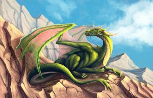 Green Dragon by Kira-Bagirova