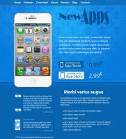 iPhone App Website Layout by NatalyBirch