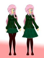 Fluttershy concept design by StaleMeat
