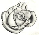 Charcoal Rose by pixxy777