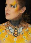 Bee neck bodypaint on Mel by Cat pics DR Cook up by Bodypaintingbycatdot
