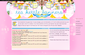 Tea kettle banners layout by maddieover