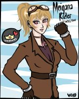 For RP - Meigana Rider Portrait by BunnyVoid