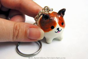 Commission - Personalized Puppy Key Chain by Bon-AppetEats