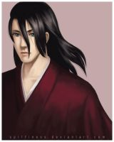 Kuchiki Byakuya in Red by Spiffiness