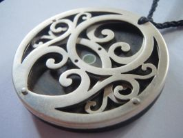 double koru pendant by jeanburgers