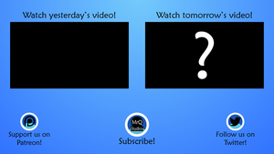 Outro Screen for YouTube by MrQuallzin