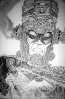 The making of Galactus by GraphixRob