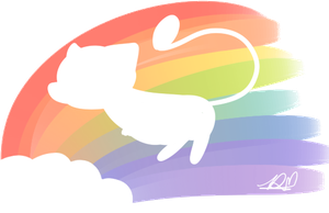 RAINBOW MEW by DuckyDeathly
