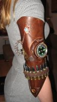 Steampunk upper arm - left side view by Firefly182